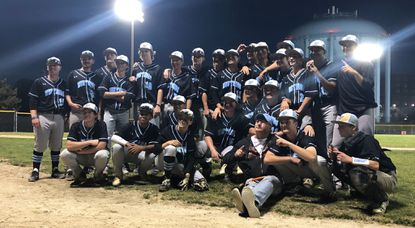 C. Milton Wright poses for a photo after defeating Northern Calvert 4-2 in a MPSSAA Class 3A baseball semifinal at Joe Cannon Stadium on Tuesday, May 21, 2019.
