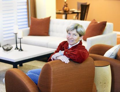 Wendy Galinn in her renovated Perry Hall condo.