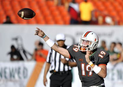 Former Miami quarterback Kevin Olsen says he's transferring to Towson