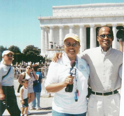 """Janice Grant and her husband, Woodrow, of Aberdeen, were in Washington, D.C., in August 2003 on the 40th anniversary of Dr. Martin Luther King's """"I Have a Dream"""" speech. The Grants, who recently celebrated their 50th wedding anniversary, came back from their honeymoon to attend the 1963 march."""