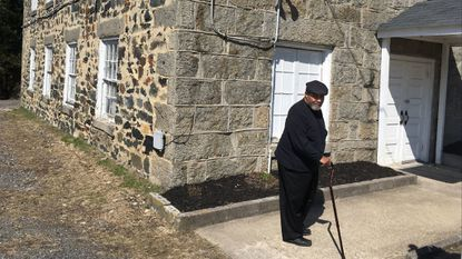 Charles Matthews, 69, of Halethorpe, stands outside Mt. Gilboa AME Church in Oella, where he has worshiped since he was 12. The congregation is celebrating the 200th year of Mt. Gilboa, believed to be the oldest African American church still in use in Baltimore County.