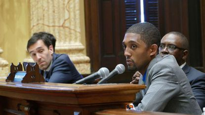 At 34, Brandon Scott, right, is a veteran of the Baltimore City Council and represents a new generation of political leadership.