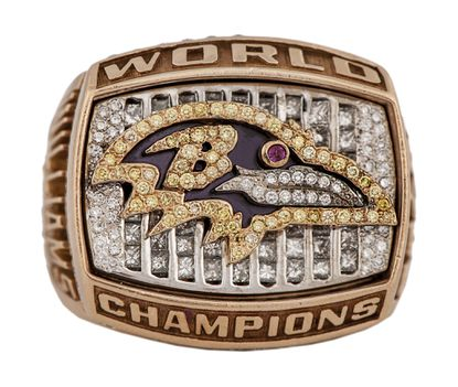 This Ravens Super Bowl ring from 2000 was sold at auction for $23,275.