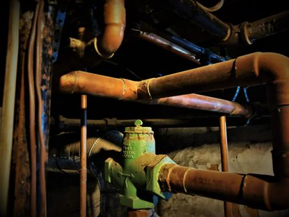 """""""I inspected every exposed pipe in the basement. Detecting no obvious problem, but concerned there might be one, I summoned a plumber."""""""