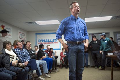 Democratic presidential candidate, former Maryland Gov. Martin O'Malley speaks during a campaign stop at his field office in Sioux City, Iowa on Friday.