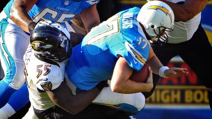 Terrell Suggs and the Ravens host Philip Rivers and the San Diego Chargers Sunday.