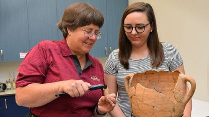 Salisbury anthropology student from Havre de Grace replicates Iron Age artifacts with 3-D printing