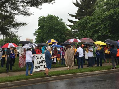 NAACP Howard County Branch held a rally Sunday near the Mall in Columbia to call for justice for slain Bowie State University student Richard W. Collins III.