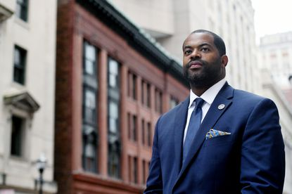 State Del. Nick Mosby announces a run for Baltimore City Council president.