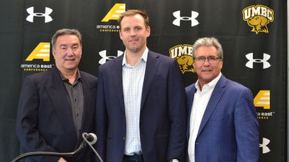 The Class of 2019 for the UMBC Hall of Fame will include men's soccer coach Pete Caringi Jr. (left), lacrosse attackman Drew Westervelt (middle) and former men's lacrosse coach Don Zimmerman (right). The other member is soccer fullback Marcus Gross (not pictured).