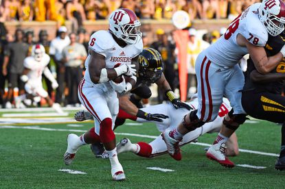 Indiana running back Tevin Coleman runs the ball against Missouri during the second half at Faurot Field.