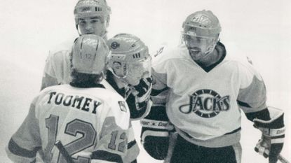 The Baltimore Skipjacks, pictured in 1987, were a Washington Capitals minor league affiliate from 1988-93 after stints being affiliated with the Minnesota North Stars, Boston Bruins and the Pittsburgh Penguins.