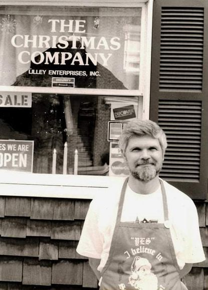 Photo of Ed Lilley, owner of The Christmas Company, a onetime store in Ellicott City.