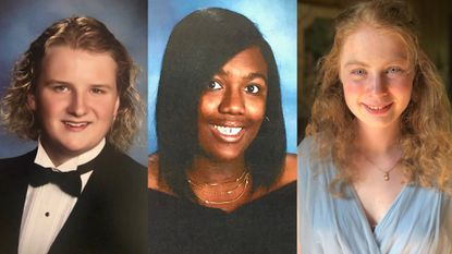 Chase Pullen of Bel Air, Alayna Avent of Harford Tech and Cara McLaughlin of Fallston have had perfect attendance for 13 years in Harford County Public Schools