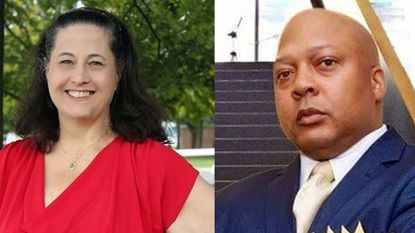 Republican Donna Blasdell, left, and Democrat Andre Johnson, right, are candidates for the Harford County Council's District A seat representing Joppatowne, Joppa and Edgewood.