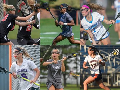 Members of the Howard County 2020 senior class (clockwise from top left) Glenelg's Ashley O'Byrne, Glenelg Country's Kennedy Williamson, Howard's Kelly Schluederberg, Long Reach's Leah McClelland, Marriotts Ridge's Gracie Kennedy and Reservoir's Sarah Nam.