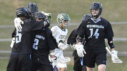 Westminster celebrates a goal against Century.