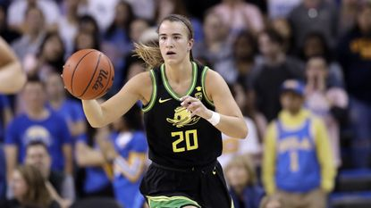 Oregon guard Sabrina Ionescu during a game against UCLA Friday, Feb. 14, 2020, in Los Angeles.