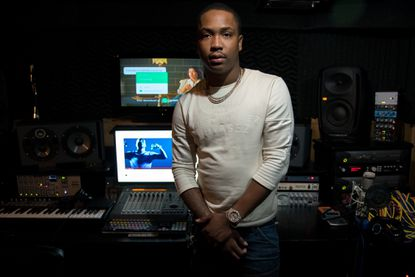 Rapper YGG Tay, shown here at Architects Recording Studio on Harford Road, will remain jailed until trial on federal drug and weapons charges, a judge ruled.