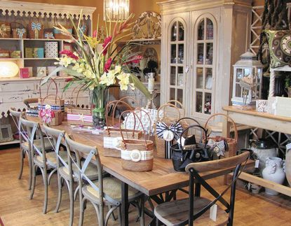 Rooster's Nest: French country furnishings and accessories at the Rooster's Nest just west of Fenwick Island.