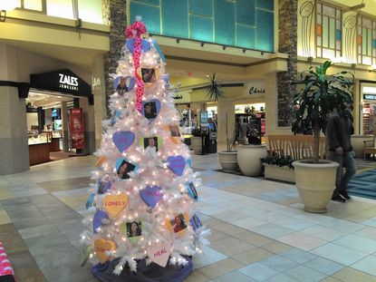 Brandon's Conversation Tree at Harford Mall aims to raise awareness of heroin abuse in Harford County.