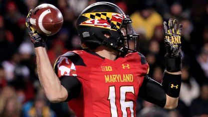 Terps quarterback C.J. Brown.