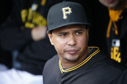 Pittsburgh's Jose Tabata stands in the dugout before a game in May.