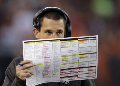 Kyle Shanahan spent last season running the Cleveland Browns' offense after losing out to Gary Kubiak for the Ravens' offensive coordinator position.