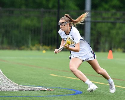 Bel Air's Maggi Hall makes a break to the goal during a past game as an attack for the Bobcats.