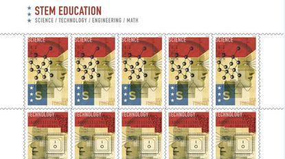 U.S. Postal Service's new stamps highlight Baltimore illustrator David Plunkert's STEM designs