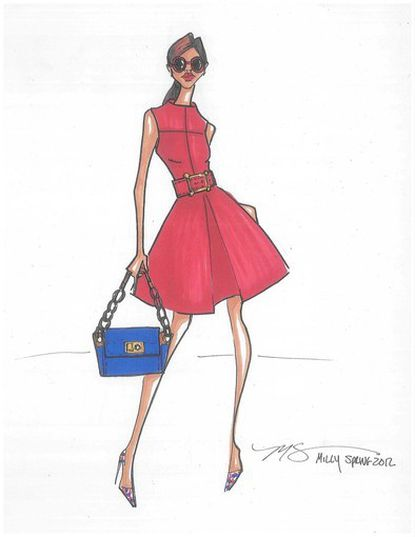 A spring 2012 sketch from Michelle Smith, who designs for Milly.