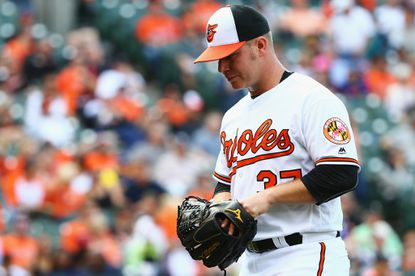 BALTIMORE, MD - MAY 19: Dylan Bundy #37 of the Baltimore Orioles enters the dugout after pitching against the Seattle Mariners during the ninth inning on May 19, 2016 in Baltimore, Maryland. The Mariners defeat the Orioles 7-2. (Photo by Maddie Meyer/Getty Images) ** OUTS - ELSENT, FPG, CM - OUTS * NM, PH, VA if sourced by CT, LA or MoD **