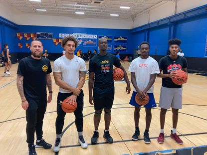 Left to right: Josh Czerski, James Rider IV (Perry Hall), Darrius Tilghman (Parkville), Nigel Haughton (South Kent School/Towson University) and Dylan Majors (Parkville).