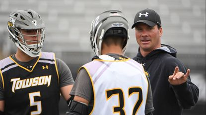 Towson men's lacrosse coach Shawn Nadelen (seen here in file art) was pleased to see the offense generate scoring chances that led to the No. 19 Tigers' 15-13 win against Mount St. Mary's on Saturday. Kim Hairston/Baltimore Sun.