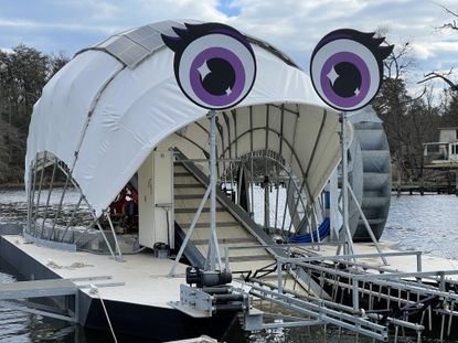Baltimore's fourth trash wheel, which will be installed at the mouth of the Gwynns Falls, was named as part of a contest last year. (Courtesy of the Waterfront Partnership of Baltimore)