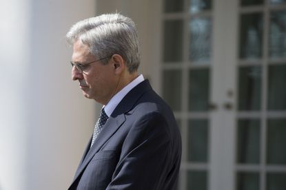 Federal appeals court judge Merrick Garland listens as President Barack Obama nominates him for the Supreme Court during an announcement in the Rose Garden of the White House, on Wednesday, March 16, 2016, in Washington. (AP Photo/Evan Vucci)