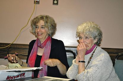 """Composer Janice Hamer, left, and poet Mary Azrael at a rehearsal for their opera """"Lost Childhood,"""" which will be performed in concert form at the Strathmore."""