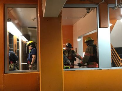 Towson Town Center was evacuated Friday night after a kitchen fire was reported at the food court, according to Baltimore County Fire Department officials. (Photo courtesy of Kathryn Falcone)