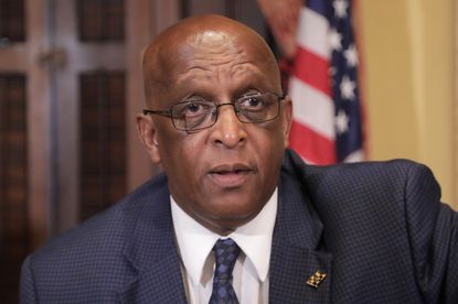 """Baltimore Mayor Bernard """"Jack"""" Young plans to use the city's projected budget surplus to help fund a massive school infrastructure plan, his spokesman said Wednesday."""