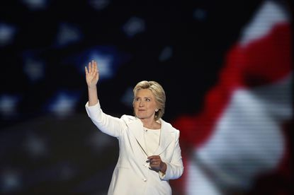 Hillary Clinton became the first woman to win the nomination for president from a major party in the United States on the final night of the Democratic National Convention at the Wells Fargo Center in Philadelphia on Thursday, July 28, 2016.