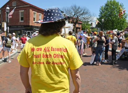 A federal judge has denied a temporary restraining order that would have blocked Gov. Larry Hogan's restrictions that aim to slow the spread of the coronavirus. Opponents of the restrictions also have held rallies, including one in Annapolis last week.