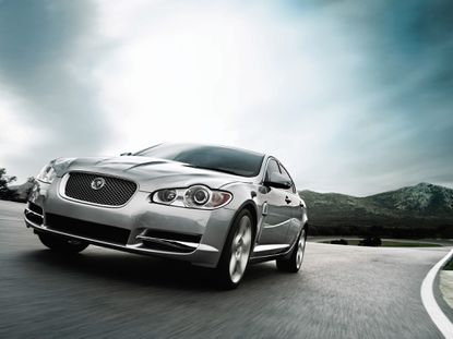 A 2009 Jaguar XF. Cars have undercarriage blankets to smooth the airflow beneath the car. (Jaguar)