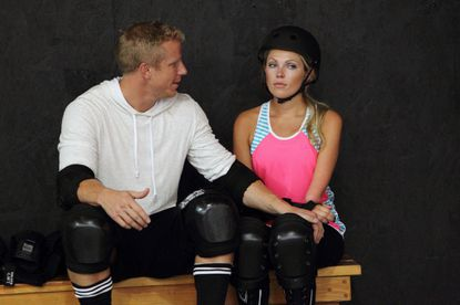 Sarah (right) faces another physical challenge that causes her to have emotional breakdown, but Sean proves to be supportive and helps her to try and overcome her fears.
