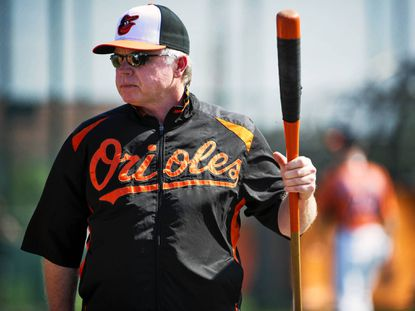 Orioles manager Buck Showalter at the team's spring training facility in Sarasota.