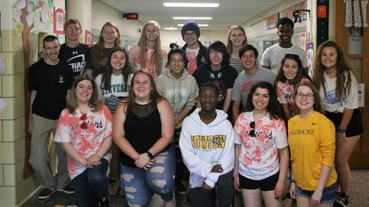 Dulaney High seniors reconnect with their alma mater: Pot Spring Elementary in Timonium