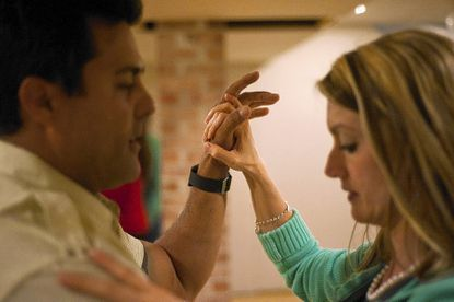Taneytown residents Raul and Jennifer Fuentes practice their dance routine for the Dancing Stars of Frederick competition that will be part of the Alzheimer's Assocation Greater Maryland Chapter's annual Forget-Me-Not Gala on May 3.