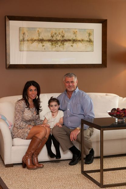 Joseph Graziose and wife Jackie with their 4-year-old daughter, Isabella Sophia pose for a photograph.