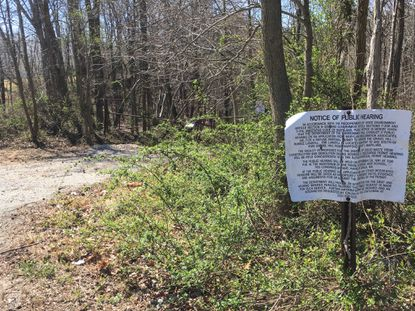 The property off Gravel Hill Road near Havre de Grace that has been the focus of years of litigation over the owner's attempt to operate a rubble landfill there. A jury this week assessed a $45.4 million judgment against Harford County for its actions to block the project.