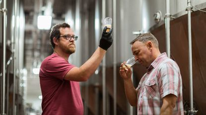 1623 Brewing Co.'s co-owners, and cousins, Zac Rissmiller, left, and Michael McKelvin plan to open a brewery in Carroll County next year. In the meantime, their beers are contract-brewed out of DuClaw Brewing Co. in Rosedale.