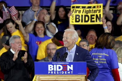 In first campaign rally for president, Joe Biden accuses Trump of abusing his office